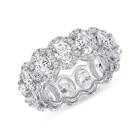 Oval Cut, Halo Eternity Band
