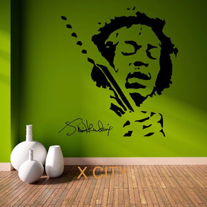 Jimmy Hendrix Wall Decal