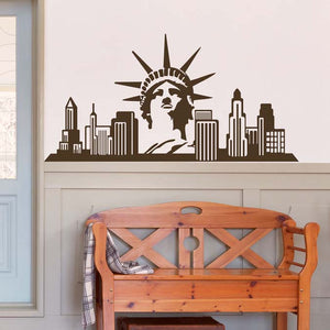 Statue of Liberty Skyline Mirror/Wall Decal