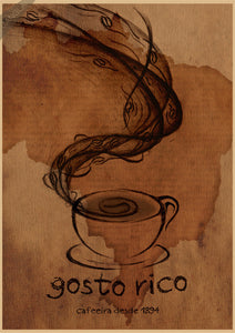 "Vintage Coffee Assortment Print - 14"" x 21"