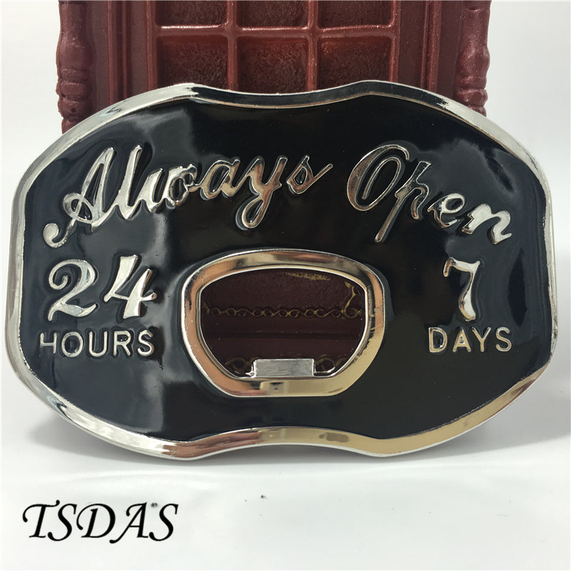 Beer Bottle Opening Belt Buckle
