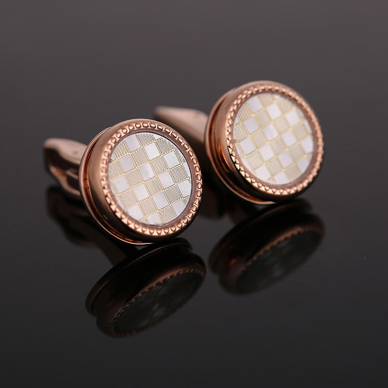 Classic Rose Gold Cufflinks