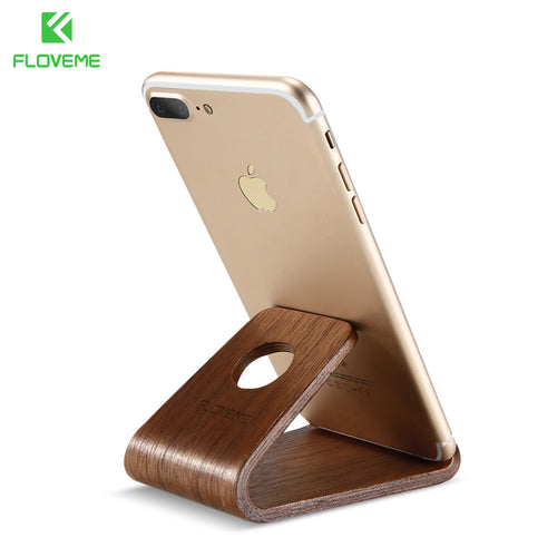 Wood Mobile Device Station Holder