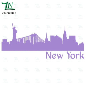 New York Skyline Mirror/Wall Decal