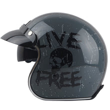 Cafe Racer Motorcycle Helmets - 3/4 Open Face ECE Compliant