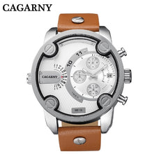 CAGARNY Large Face Wrist Watch w/ Leather Band