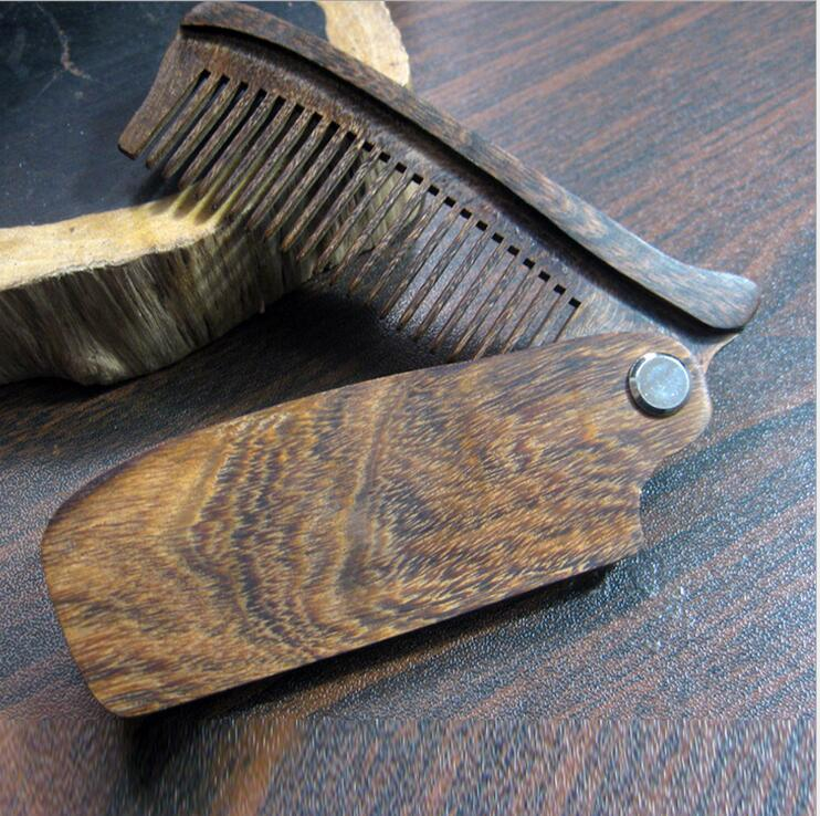 Sandalwood Fine Tooth Pocket Folding Comb