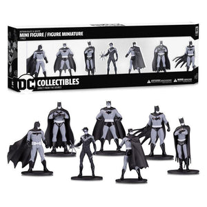 Batman Black & White PVC Minifigure 7-Pack Box Set #1 (pre-order)
