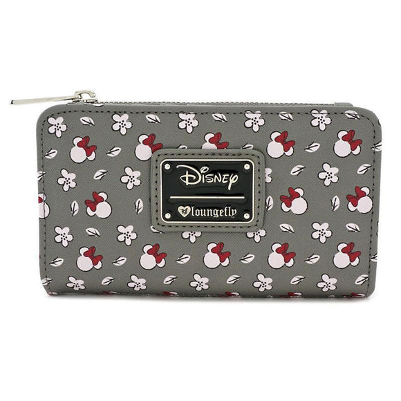 Disney by Loungefly Wallet Minnie Head & Flower Print (pre-order)