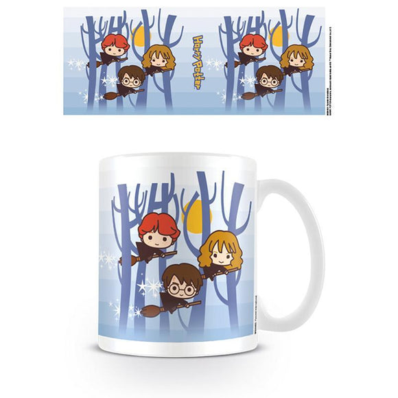 Harry Potter (Harry Ron Hermione Flying Chibi) Coffee Mug
