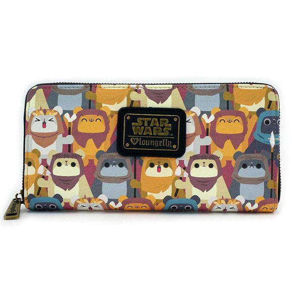 Star Wars by Loungefly Wallet Ewok AOP (pre-order)