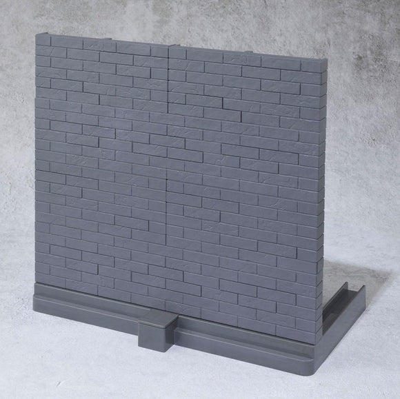 Tamashii Option Action Figure Accessory Brick Wall (Gray Ver.)