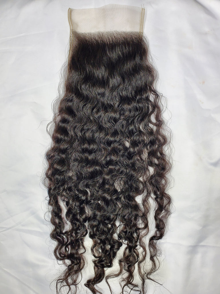 "18"" HD Raw curly closure *Restocking soon"