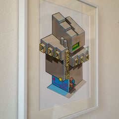 The Humans Building Art Print