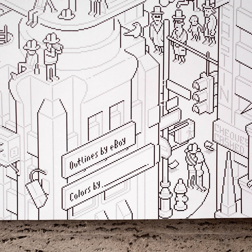 Eboy New York City Colouring Poster