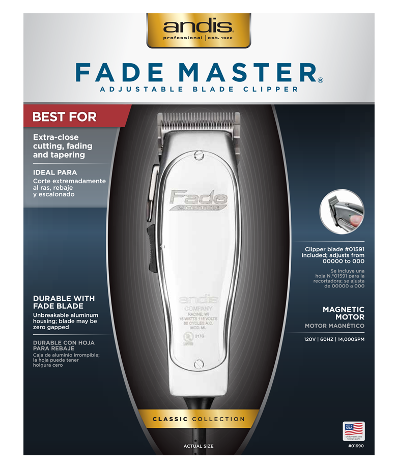Andis Fade Master  Adjustable Blade Clipper