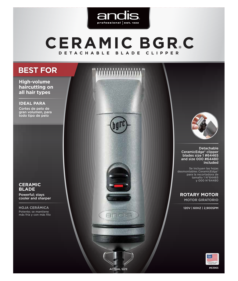 Andis Ceramic BGR C Detachable Blade Clipper