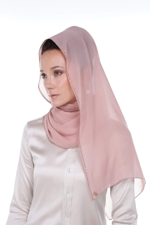 Swarovski Shawl in Blush