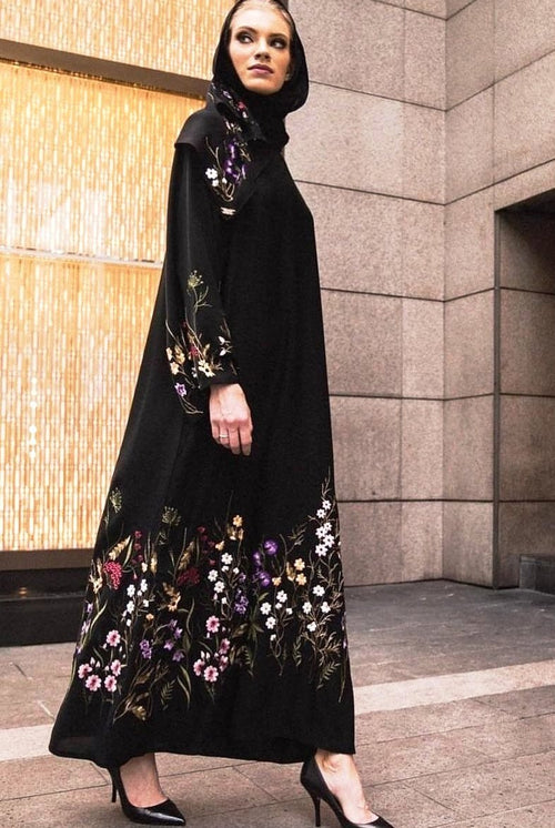 Wildflower Abaya in Black