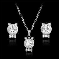 Crystal Cat Jewelry Sets - fashionemy-new