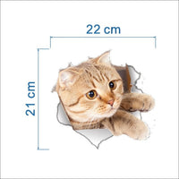 Cats and dogs 3D Wall Sticker - fashionemy-new