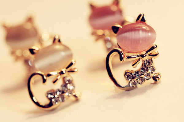 Fashion Cute  cat Earrings For Women - fashionemy-new