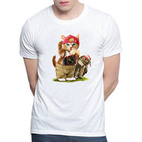 Cute Cat T-shirts Man , women Summer Tops - fashionemy-new