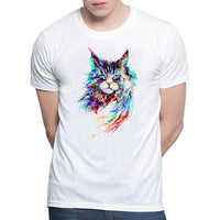 Cute Cat T-shirts Man , women Summer Tops