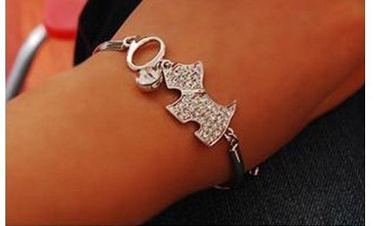 Crystal cute  dog bracelet - fashionemy-new