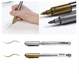 1 Piece Metallic Color Marker Pen Writing & Drawing kiniyo stationary 4068p
