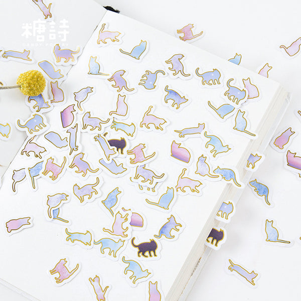 100pcs Here Kitty Is Sticker Scrapbooking kiniyo stationary 3976p