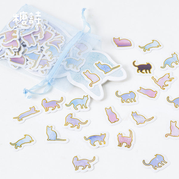 100pcs Here Kitty Is Sticker Scrapbooking kiniyo stationary 3977p