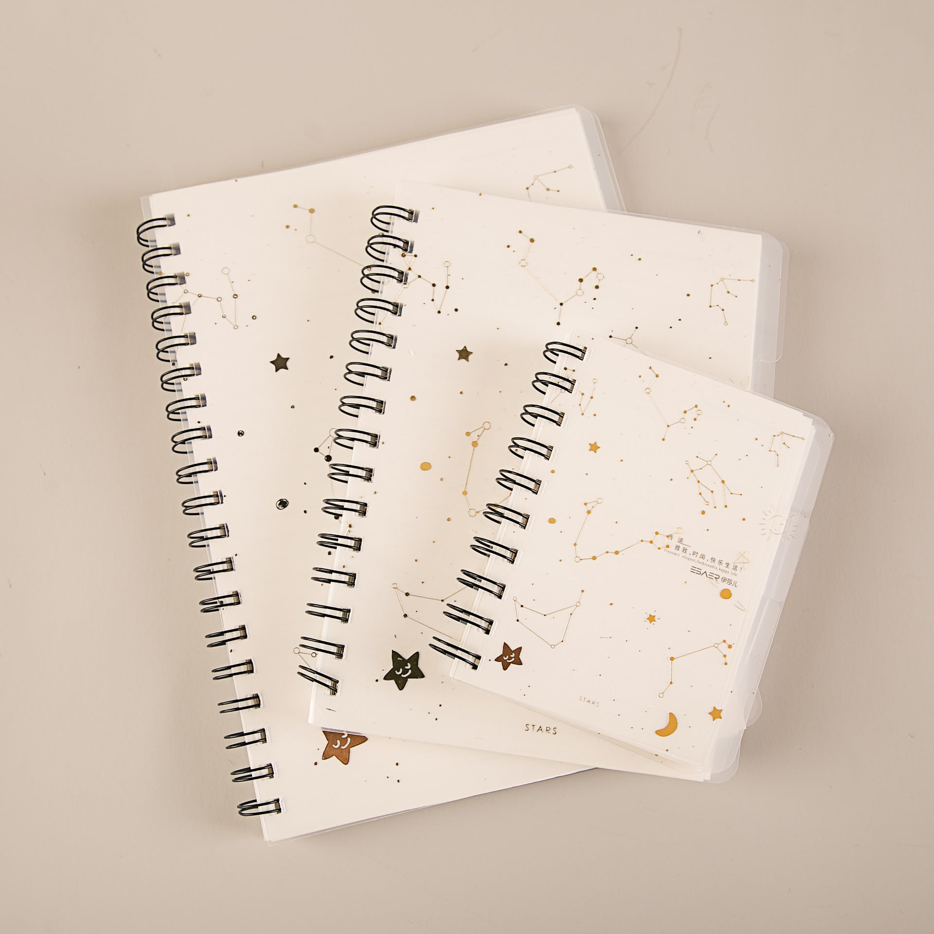 Star Separator Page PP Ring Loose Spiral Notebook