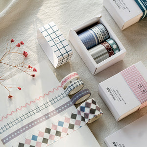 6pcs Simple Time Series Decoration Washi Tape