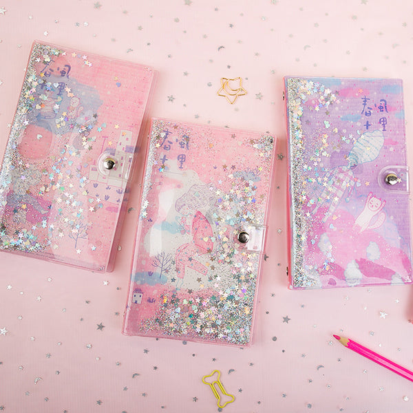48K PVC Cover Girl Loose Spiral Planner KINIYO Stationery