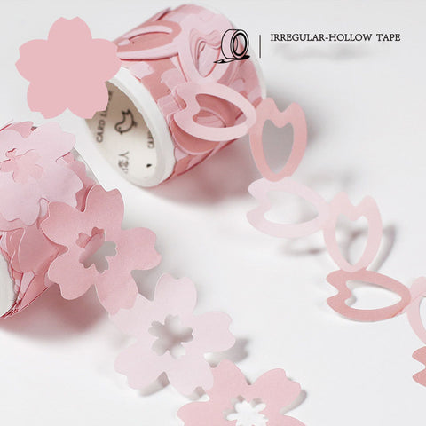 Sakura Paper Cut Sticker Roll Irregular-hollow Tape