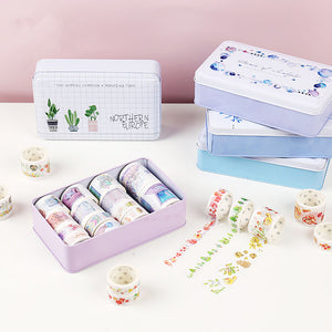 14pcs Life Style Tin Box Washi Masking Tape KINIYO Stationery