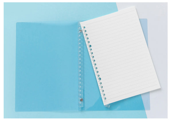Flexible PC Cover Loose-leaf Spiral Notebook