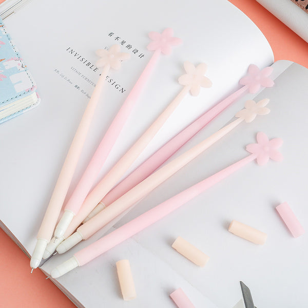 1 Piece Luminous Sakura Silicone Gel Pen KINIYO Stationery