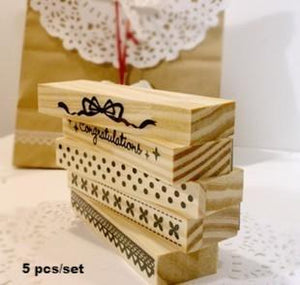 5pcs Flower Lace Stamp