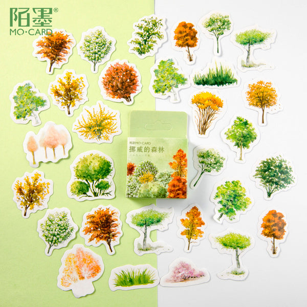 46pcs Norwegian Wood Deco Sticker KINIYO Stationery