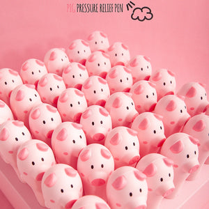 0.5mm Soft and Porous Piggy Gel Pen KINIYO Stationery