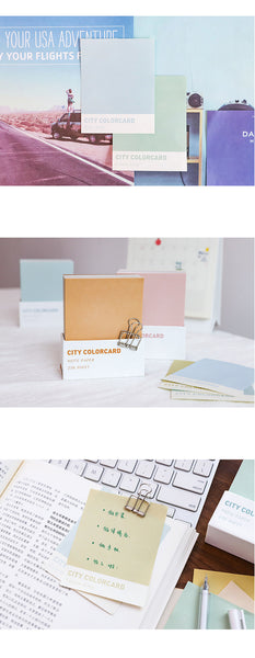 City Colorboard Writing Pad 250 Sheet KINIYO Stationery