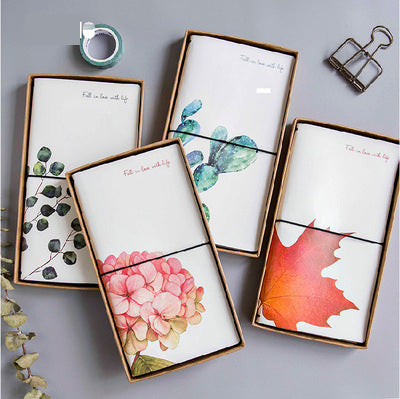 1 Piece Plants Leather Planner Notebook