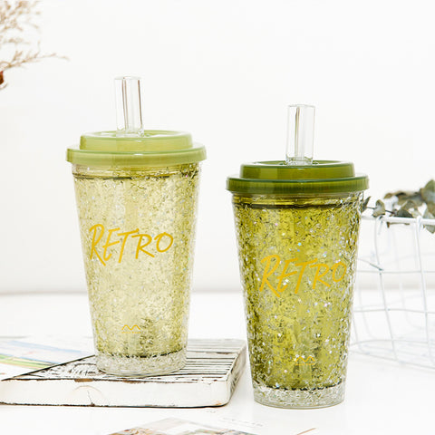Crushed Ice Straw PP To-go Cup