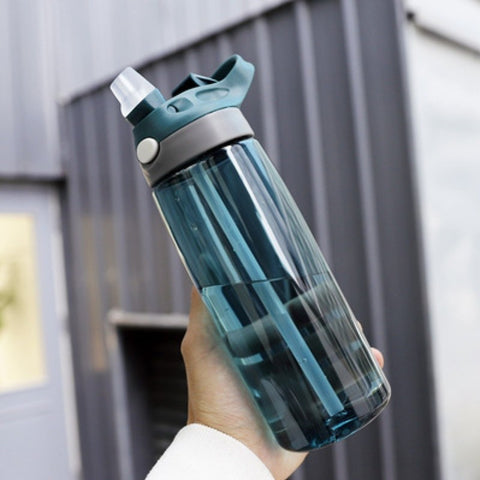 750ml Folded Straw Portable Plastic To-go Cup