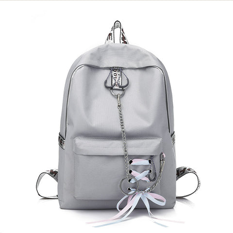 Lace-up Casual Travel Large Capacity Canvas Backpack