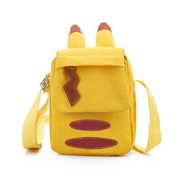 Pikachu Ear Yellow Cartoon Canvas Shoulder Bag