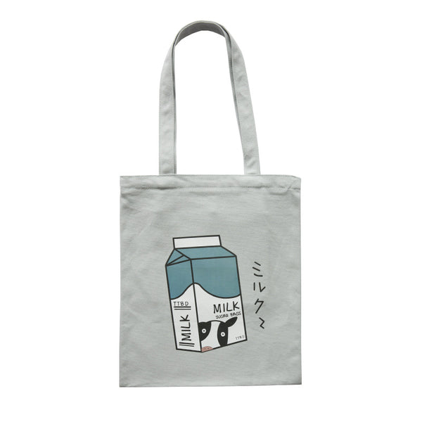 Colorful Printing Illustration Zipper Shoulder Bag