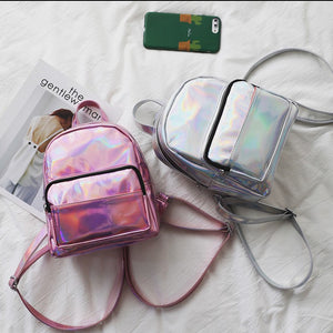 Mini Chic Laser Color Dazzling Backpack